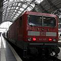 Red Train To The Main Train Station In Frankfurt Am Main Germany by Ronald Jansen