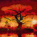 Red Tree Of Life by Pixel Chimp