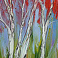 Red Trees Of Autumn by Dunbar's Modern Art