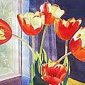 Red Tulips by Linda Haile