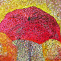 Red Umbrella by Claire Bull
