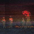 Red Umbrella by Ernestine Manowarda