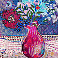 Red Vase IIi by Diane Fine