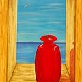 Red Vase by Pamela Allegretto