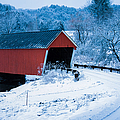 Red Vermont Covered Bridge by Jeff Folger