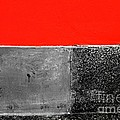 Red Wall In Black And White by Newel Hunter