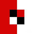 Red White And Black 2 Square by Andee Design