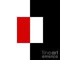 Red White And Black 7 Square by Andee Design