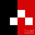 Red White And Black 8 Square by Andee Design