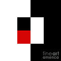 Red White And Black 9 Square  by Andee Design