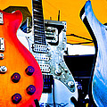 Red White And Blue Guitars by David Patterson
