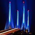 Indian River Inlet Bridge As Seen North Of Bethany Beach In This Award Winning Perspective Photo by William Bartholomew