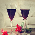 Red Wine And Roses by Amanda Elwell