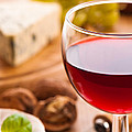 Red Wine With Cheese by Amanda Elwell