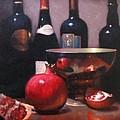 Red Wine With Pomegranates by Takayuki Harada