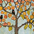 Red Winged Black Birds In A Tree by Blenda Studio