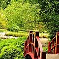 Red Wooden Bridge by Maria Urso