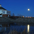 Redlin Art Center In Full Moon by Dung Ma