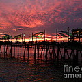 Redondo Beach Pier At Sunset by Bev Conover