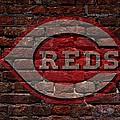 Reds Baseball Graffiti On Brick  by Movie Poster Prints
