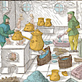 Refining Sulphur, 16th Century by Wellcome Images
