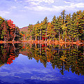 Reflected Autumn Lake by William Carroll