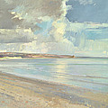 Reflected Clouds Oxwich Beach by Timothy  Easton