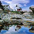 Reflected Lighthouse At Pemaquid Point by Jim Block