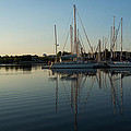 Reflecting On Yachts - Hot Summer Afternoon Mirror by Georgia Mizuleva