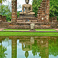 Reflecting Pool At Wat Mahathat In 13th Century Sukhothai Historical Park-thailand by Ruth Hager