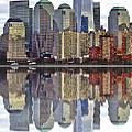 Reflection Of Downtown Nyc by Toula Mavridou-Messer