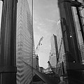 Reflections At The 9/11 Museum In Black And White by Rob Hans
