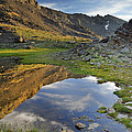 Reflections At The Mountain Lake by Guido Montanes Castillo