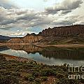 Reflections In Blue Mesa by Adam Jewell