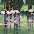 Reflections In Pink by Karen Zuk Rosenblatt