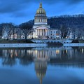 Reflections In The Kanawha River by Adam Jewell