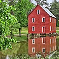 Reflections Of A Retired Grist Mill - Square by Gordon Elwell