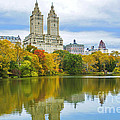 Reflections Of Autumn Central Park Lake  by Regina Geoghan