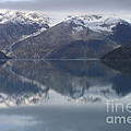 Reflections Of Glacier Bay Alaska II by Gene Treants