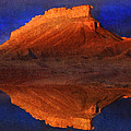 Reflections Of Miner Butte by R christopher Vest