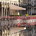 Reflections Of Saint Mark's Square -day by Jennifer Wheatley Wolf