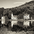 Reflections Of The Day Black And White by Joshua House