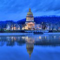 Reflections Of The West Virgina Capitol Building by Adam Jewell