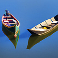 Reflections Of Two Canoes by David Letts