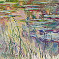 Reflections On The Water by Claude Monet