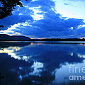 Reflective Blues On Lake Umbagog  by Neal Eslinger