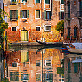 Reflective Moment In Venice by Jeff Kershaw