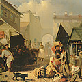 Refreshment Stall In St. Petersburg, 1858 Oil On Canvas by Adrian Markovich Volkov