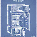Refrigerator Patent From 1901 - Light Blue by Aged Pixel