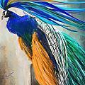 Regal Vibrancy- Peacock Paintings by Lourry Legarde